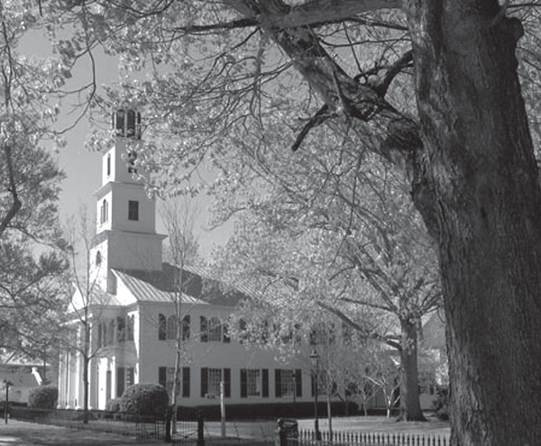 The oldest church in New Bern, First Presbyterian church was built in 1822.