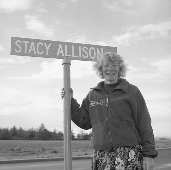 Climber Stacy Allison.