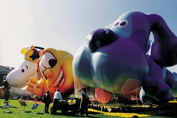 This photo from 1999 shows the new Blue balloon from the children's TV show Blue's Clues.