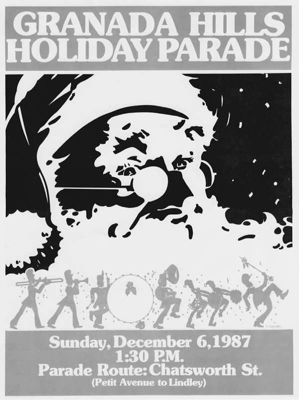 This advertisement, featuring Santa, was for the 1987 rendition of the parade.