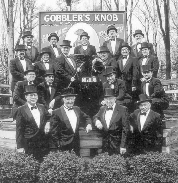 The 2001 members of the Groundhog Club's Inner Circle.