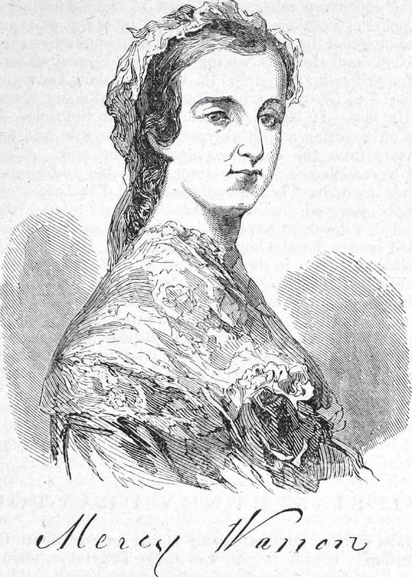 A portrait of Mercy Otis Warren.