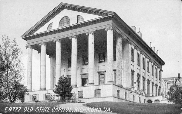 The Old State Capitol building in Richmond, circa 1906.