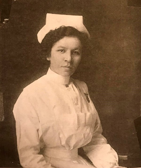 Louise Lafournaise, a World War I nurse from Montana. Author's collection.