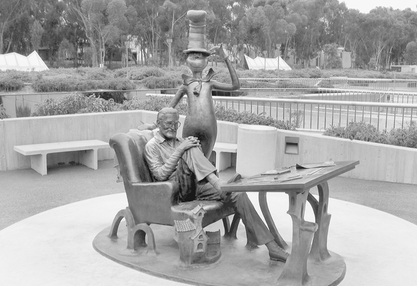 The Dr. Seuss memorial at UCSD.
