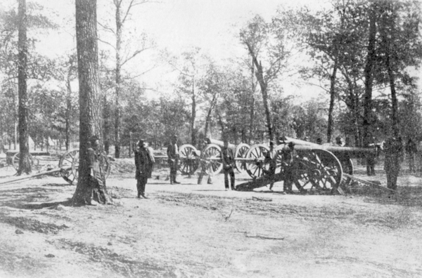 One of three known photographs of the Shiloh battlefield.