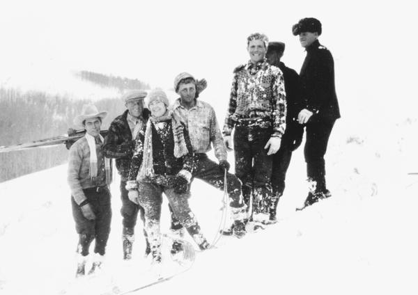 A ski party in 1929 near Jackson Hole.
