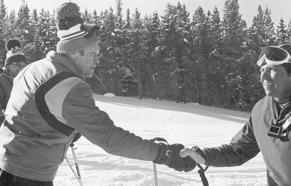 President Gerald Ford during a trip to Vail.