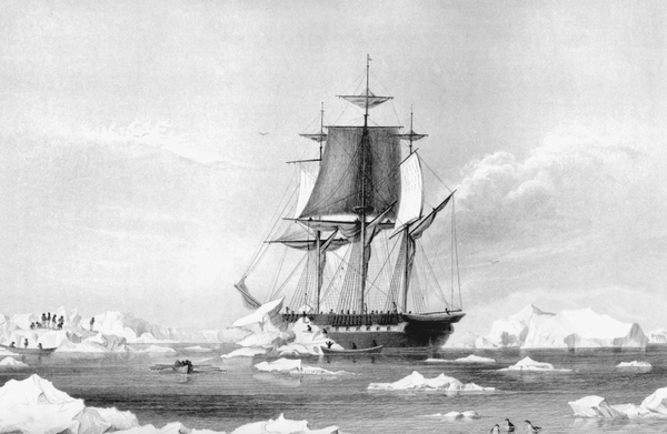 The USS Vincennes, a 19th century naval ship.