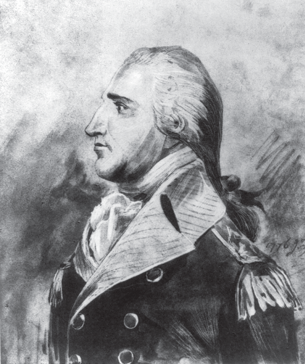 A portrait of Benedict Arnold.