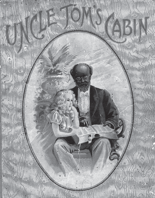The first cover of Uncle Tom's Cabin.