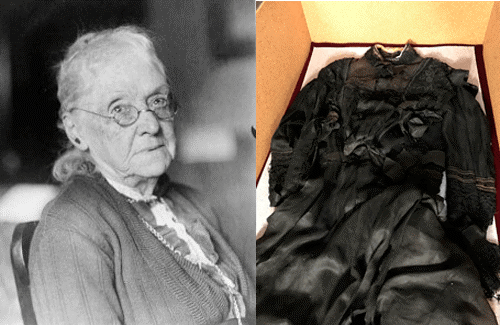 Senator Rebecca Latimer Felton, and the dress she made from her own window curtains.