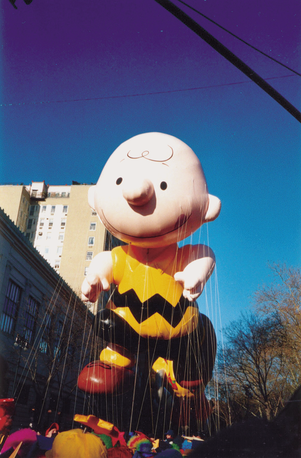 The famous Charlie Brown Macy's parade balloon.