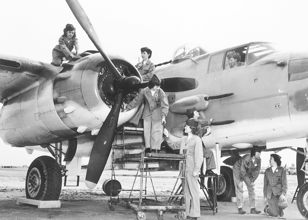 During WWII, women worked in several mechanical roles, and took over the majority of jobs left vacant by men fighting overseas.