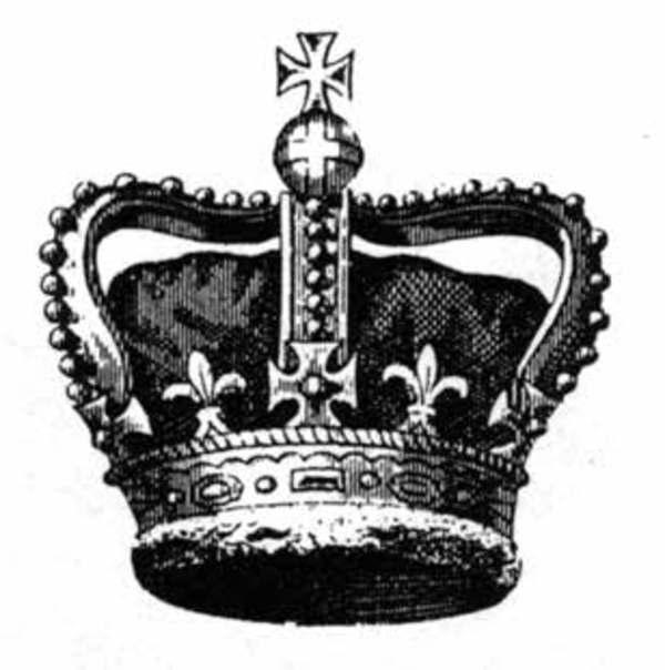 A British crown. Reprinted from The Angel Oak Story by Ruth Miller with Linda Lennon (pg. 15, The History Press, 2018).