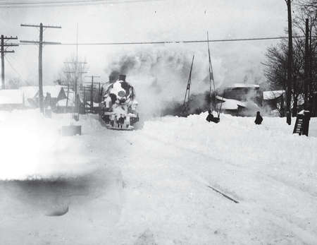 A steam engine refuses to stop for a 1925 New York blizzard.