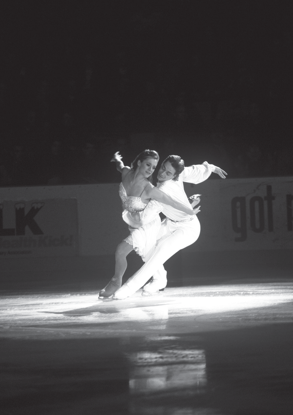 World Champion Ice Dancers Shae-lynn Bourne and Victor Kraatz perform in the 1997 Lake Placid Coronation show.
