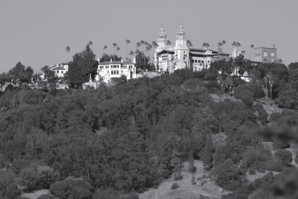 "A view of Hearst Castle on the ""Enchanted Hill."""