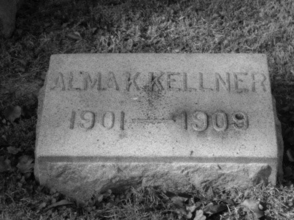 Alma Kellner Gravestone 1901-1901