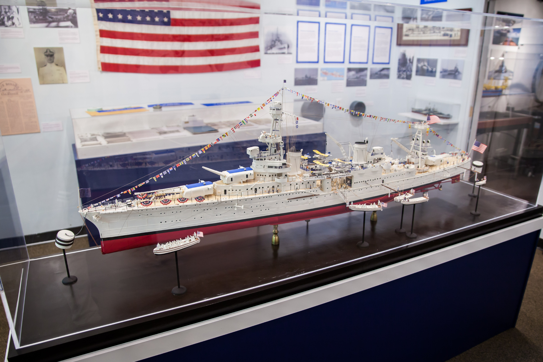 A Model of the Cruiser Houston in the Houston Room of the  Houston Maritime Museum (William Lardas)