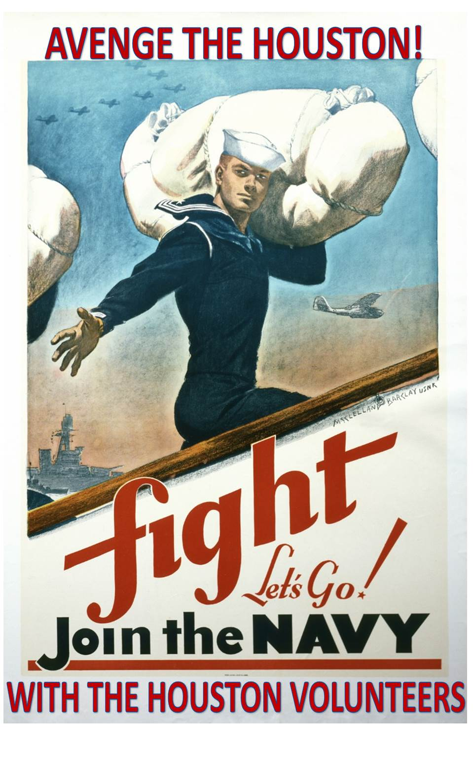 Houston Volunteers Recruiting Poster (Author Collection)