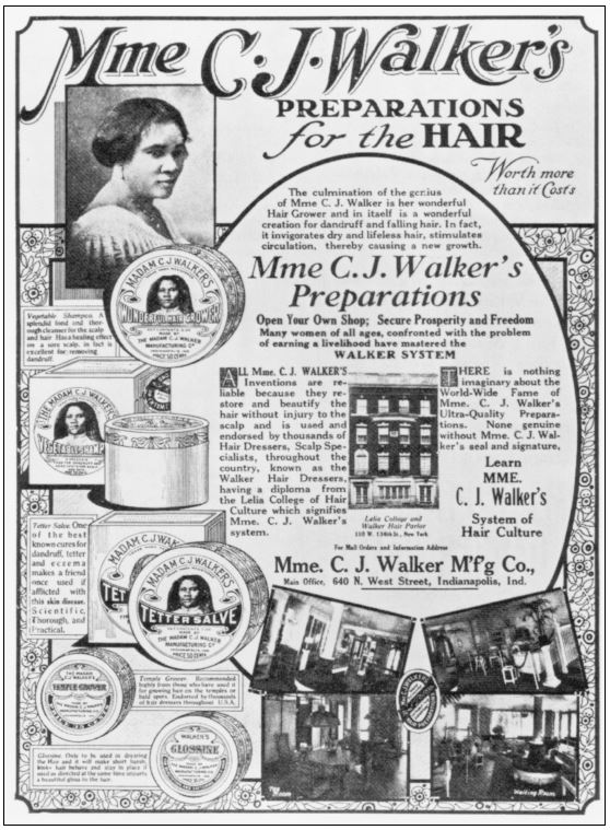 Mme C.J. Walker's Preparations for the Hair