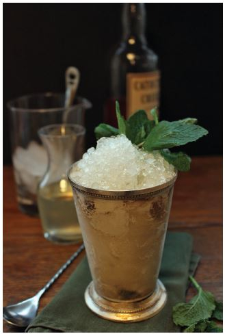 A Maryland Mint Julep. Reprinted from Forgotten Maryland Cocktails by Gregory Priebe & Nicole Priebe (pg. 98, The History Press, 2015).