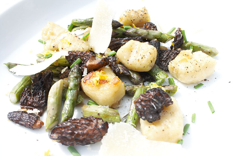 Spring Gnocchi with Morels and Wild Asparagus