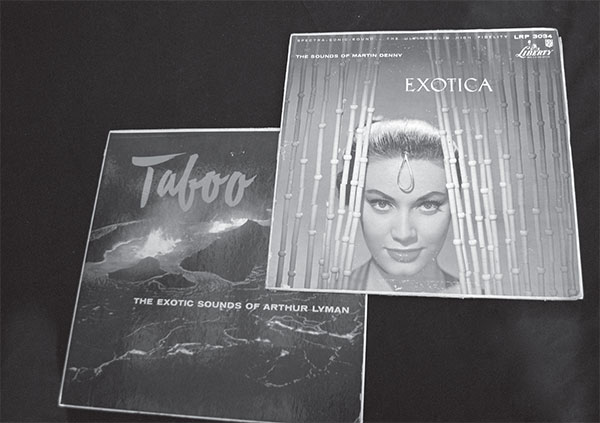 Two of the masterpieces of Tiki music: Martin Denny's Exotica (1957) and Arthur Lyman's Taboo (1958). Reprinted from California Tiki: A History of Polynesian Idols, Pineapple Cocktails and Coconut Palm Trees by Jason Henderson & Adam Foshko, courtesy of Liberty Records and HiFi Records (pg. 30, The History Press, 2018).