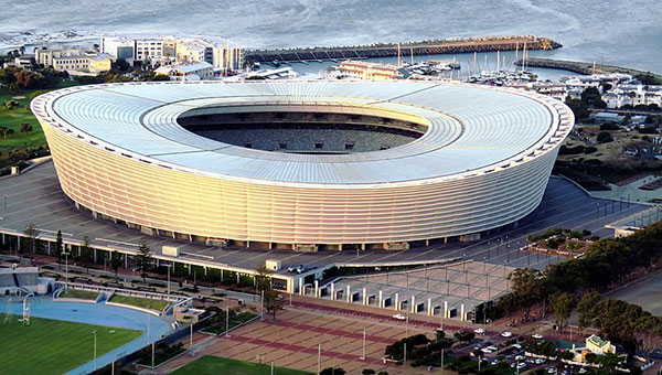 Cape Town Stadium, in South Africa. Image by Prosthetic Head [CC BY-SA 4.0], via Wikimedia Commons.