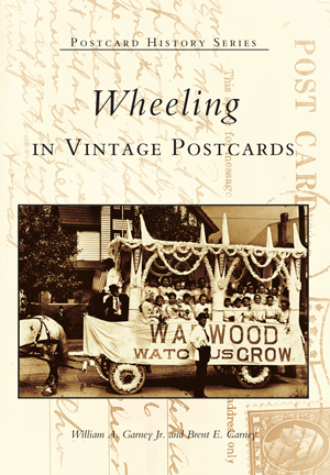 Wheeling in Vintage Postcards