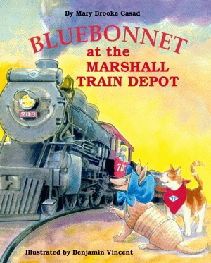 Bluebonnet at the Marshall Train Depot